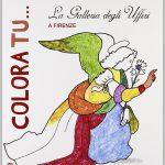 """Copertina del libro """"Colora tu... La Galleria degli Uffizi a Firenze"""" (Sillabe)"""