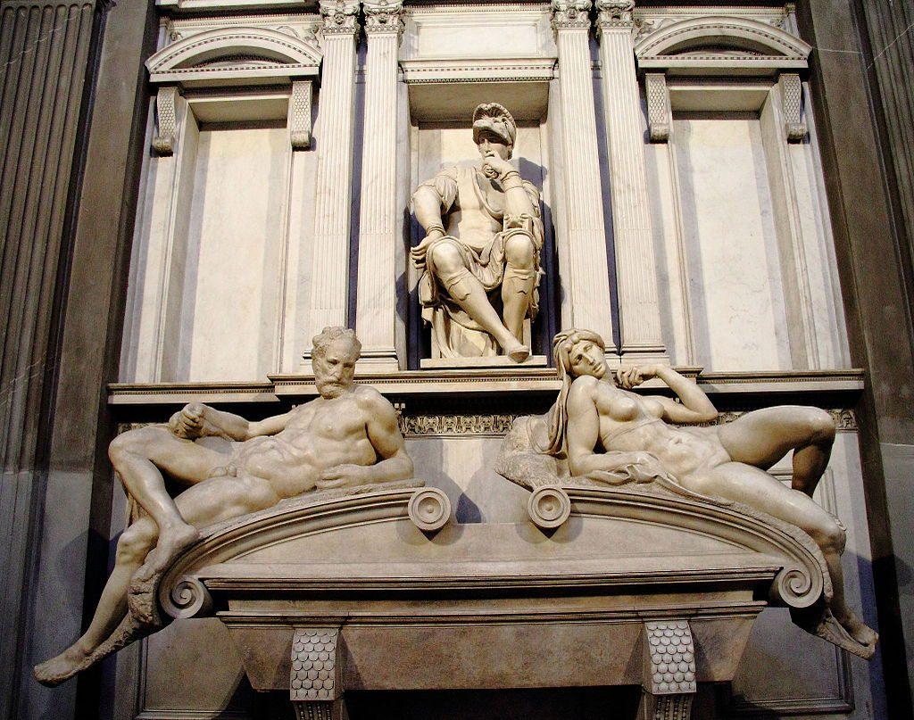 Tomba di Lorenzo de' Medici - Sacrestia Nuova di Michelangelo (Cappelle Medicee, Firenze)