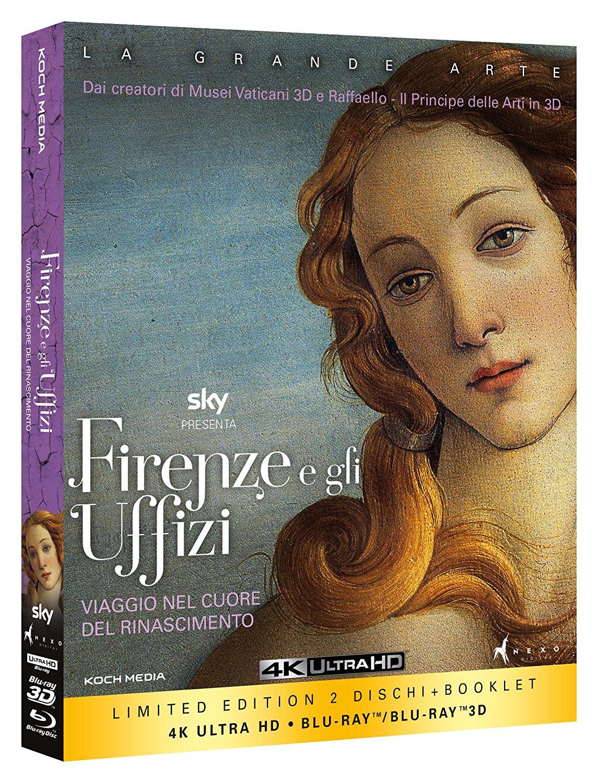 Firenze e gli Uffizi. Viaggio nel cuore del Rinascimento (2 Blu-Ray 2D/3D 4K Ultra HD)