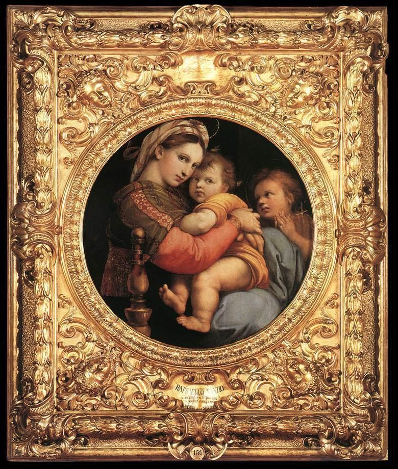 Raffaello, Madonna della Seggiola (Galleria Palatina, Firenze)