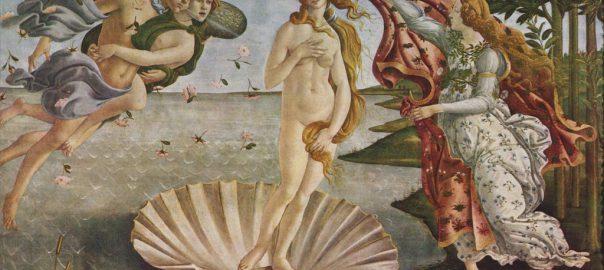 La nascita di Venere di Sandro Botticelli (Galleria degli Uffizi, Firenze)