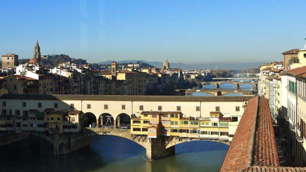 Il Corridoio Vasariano e Ponte Vecchio visti dagli Uffizi