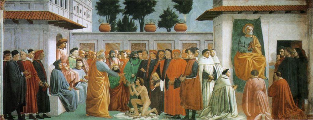 Filippino Lippi e Masaccio, San Pietro in cattedra - Cappella Brancacci, Firenze